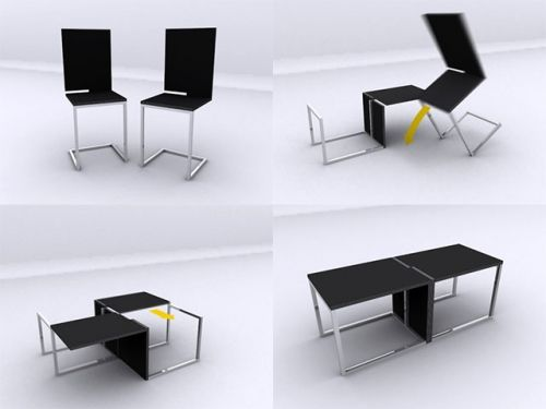 Multi Functioning Funiture: Table/Chairs Combo By Joel Hesselgren Perfect  For The Kids Room