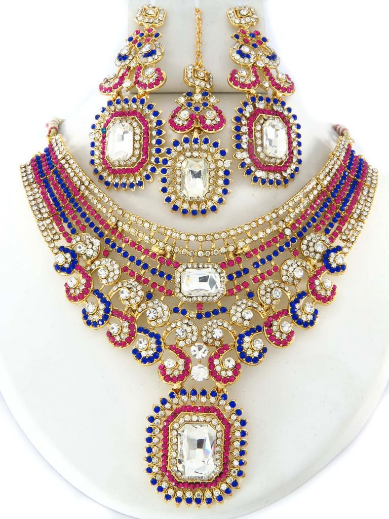 d1b680624 New Arrivals for Pink blue Necklaces. Wholesale Store for Indian Costume  Jewelry. Visit our
