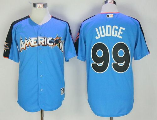 """ab6dde8ef """"Men s American League New York Yankees  99 Aaron Judge Majestic Blue 2017  MLB All-Star Game Authentic Home Run Derby Jersey   23"""""""