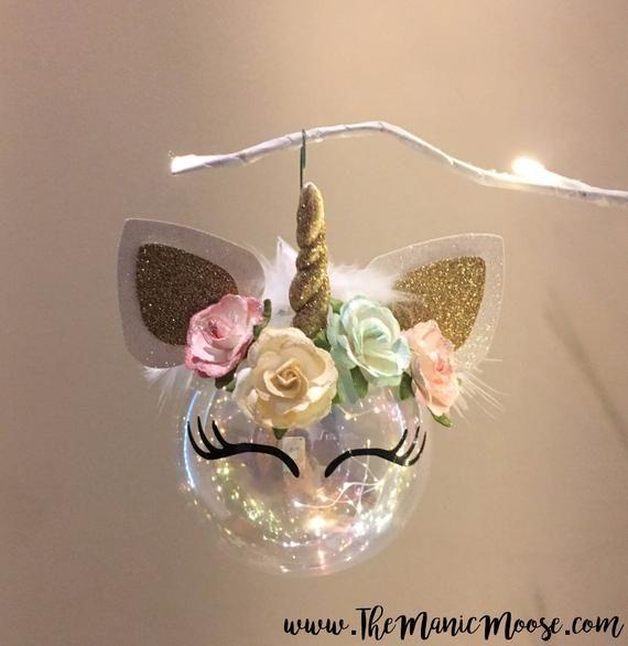 Magical Vintage Chic Unicorn Ornament #unicorncrafts