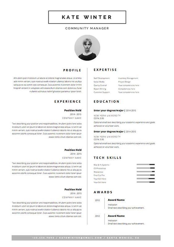 business infographic   curriculum vitae