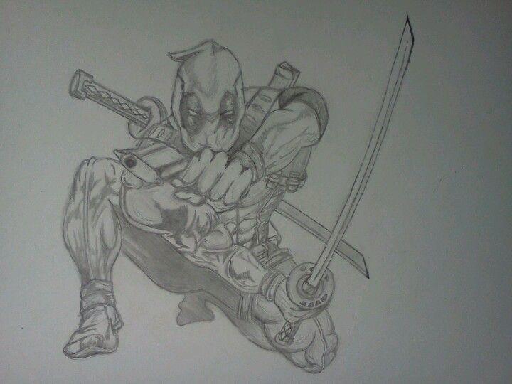 Easy D Line Drawings : My pencil drawing of deadpool! art :d pinterest deadpool