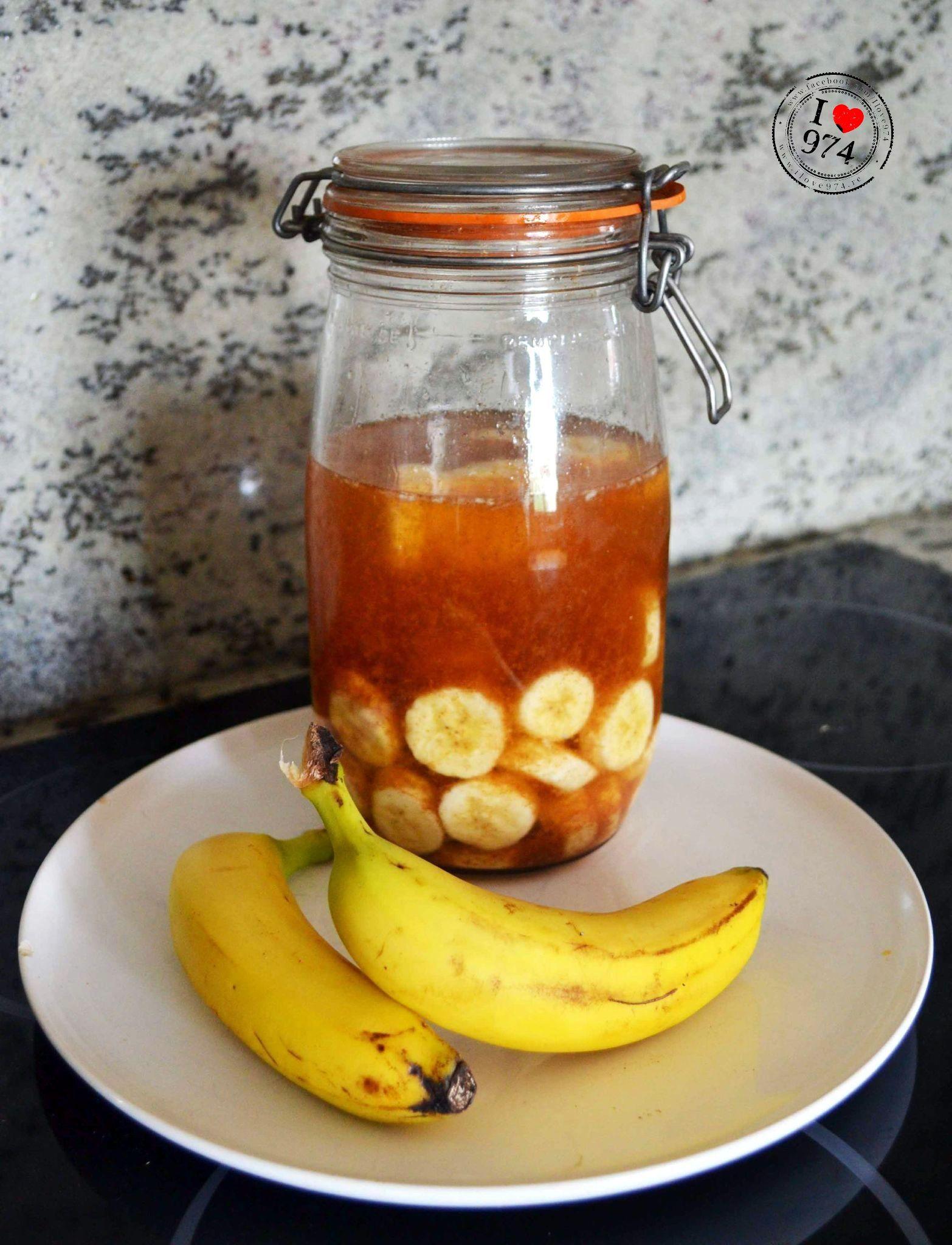 Rhum arrangé à la banane   Rhum arrangé, Rhum, Recette ...