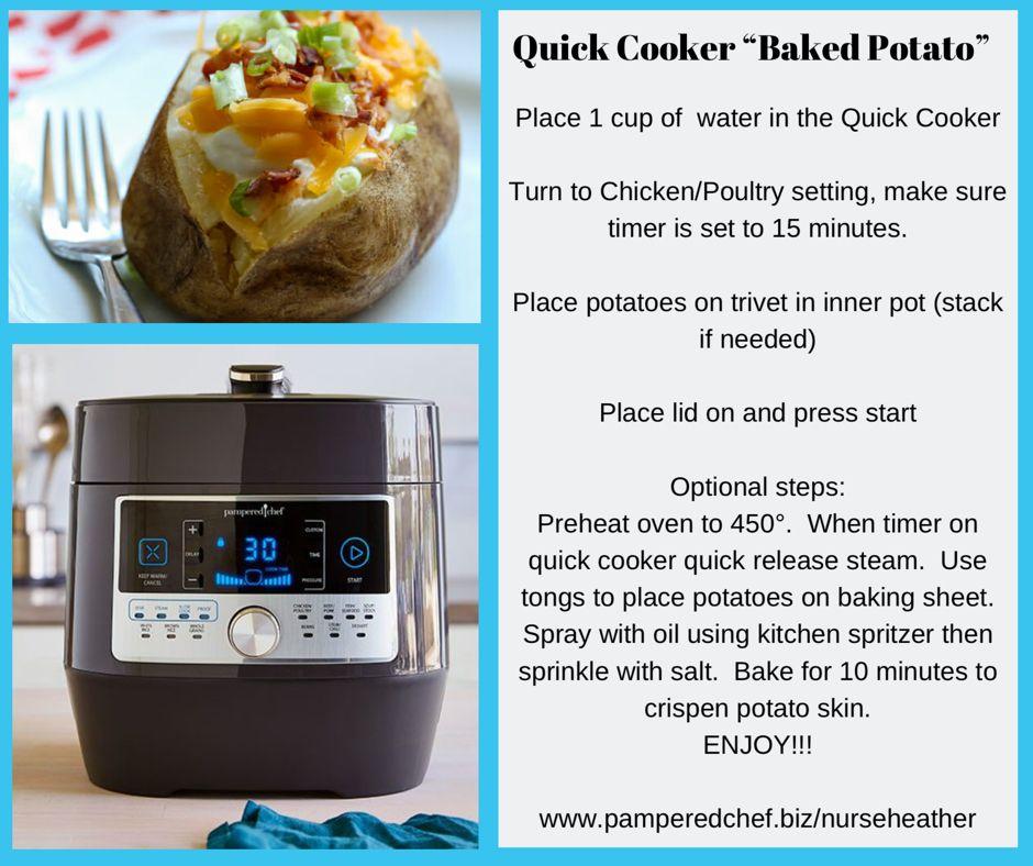 Quickcooker, pressurecooker, bakedpotato, easydinner