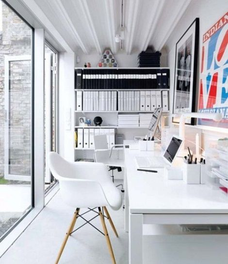 kleines Arbeitszimmer-weiß | Arbeitszimmer | Pinterest
