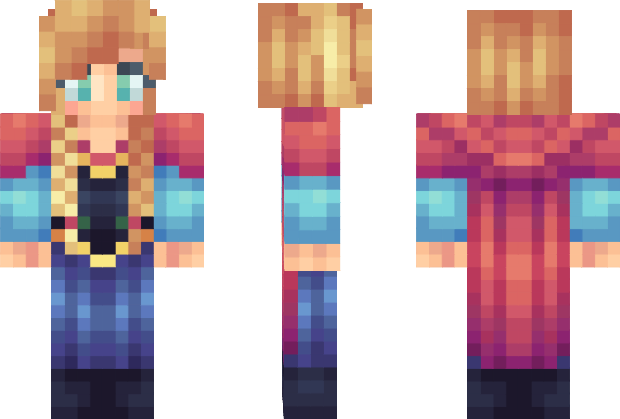 Anna Frozen Minecraft Skin Minecraft Skins Pinterest - Skin para minecraft pe frozen