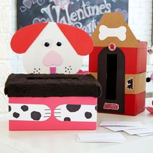 Ideas For Decorating Valentine Boxes Valentine's Day Kids' Party Puppy Card Box  Craft Ideas