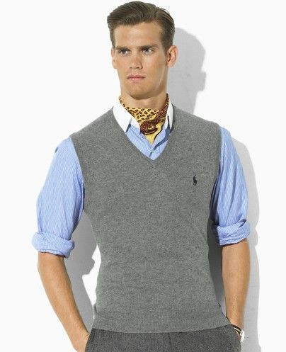 The perfect sweater vest bulks you up while also slimming you down ...