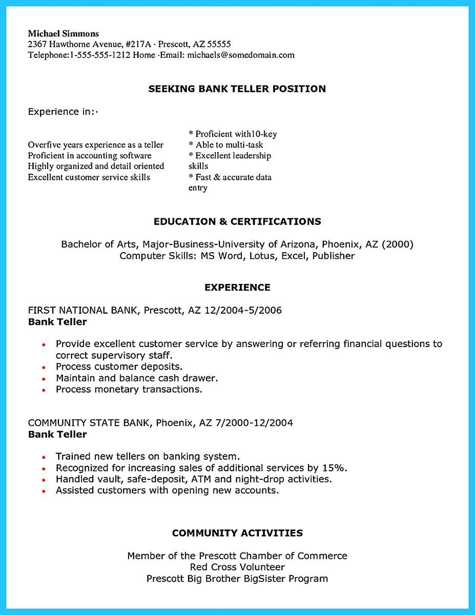 Resume For Someone With No Experience Cool Most Of People Who Are About To Apply For Job As A Bank Teller They .