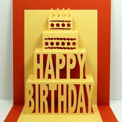 Happy Birthday Pop Up Birthday Card Pop Up Pop Up Card