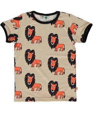 Smafolk - T-Shirt Löwe beige