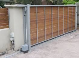 Image Result For Steel Frame Gate Wood Slats Sliding Gate