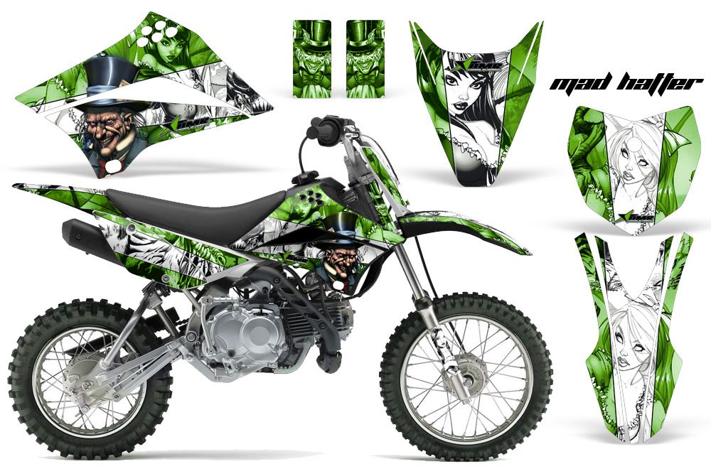 2010-2016 KLX110 Graphics kit  Kawasaki Motocross Graphic
