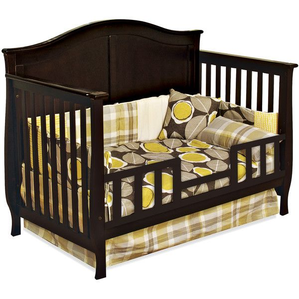 Camden 4-in-1 Convertible Crib Reviews ❤ liked on Polyvore featuring home, children's room, children's bedding and baby bedding