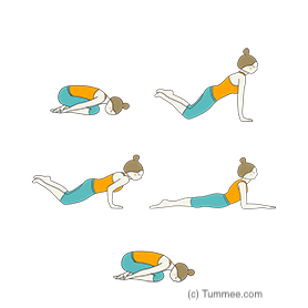 child pose flow yoga balasana vinyasa  warm up yoga