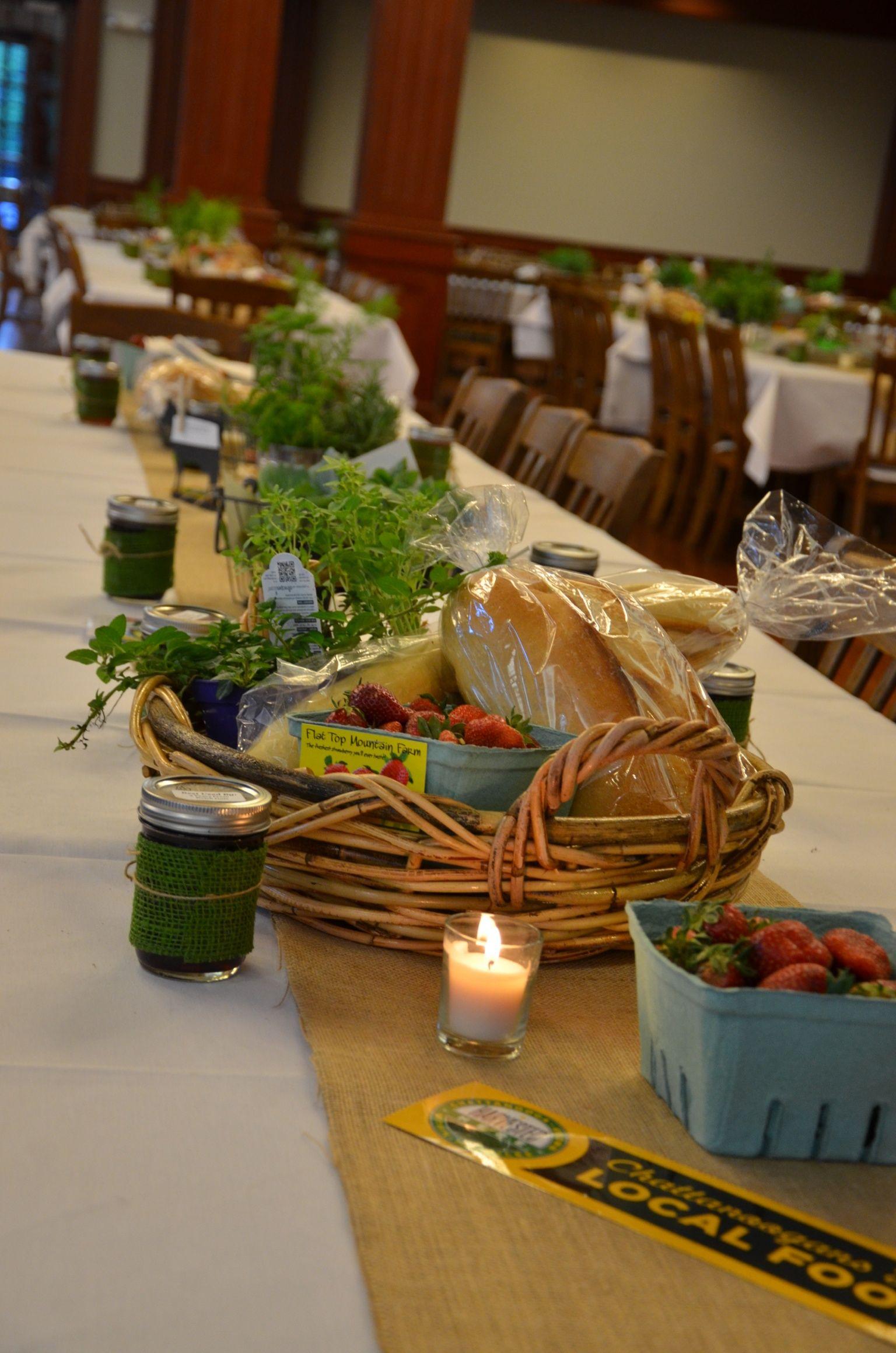 Table Decorations At Mccallie Teacher Appreciation