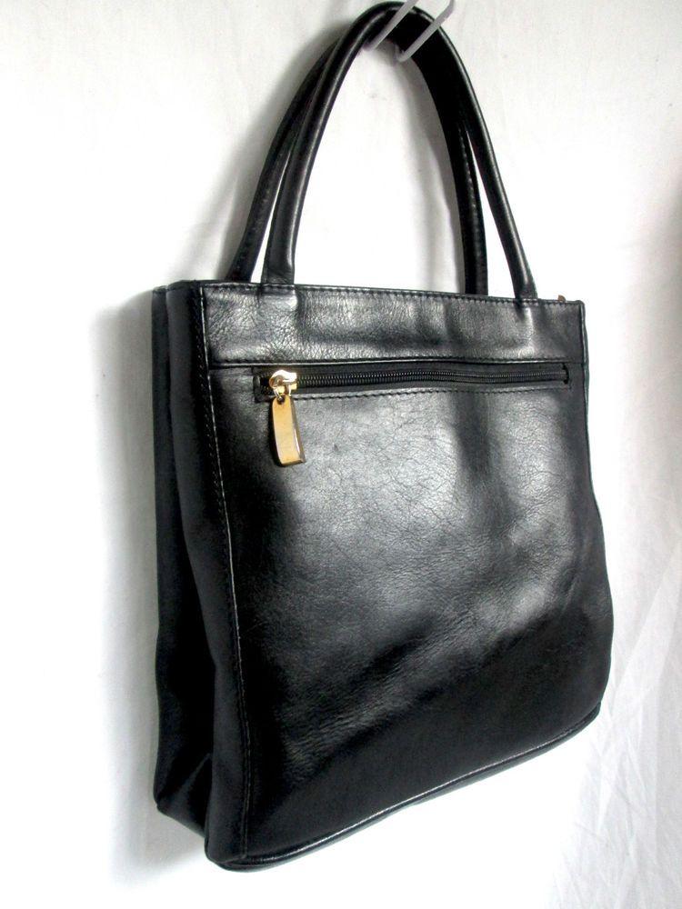 Leather Toledano Montreal Genuine Black Handbag