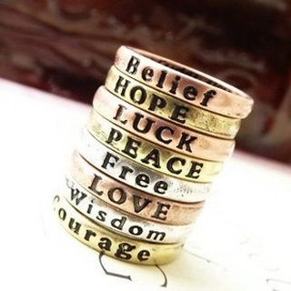 Vintage Tone Inspiration Ring