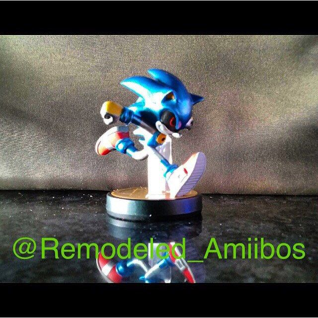 Custom Sonic Amiibo For Super Smash Bros Wii U Smash Bros Amiibo Super Smash Bros