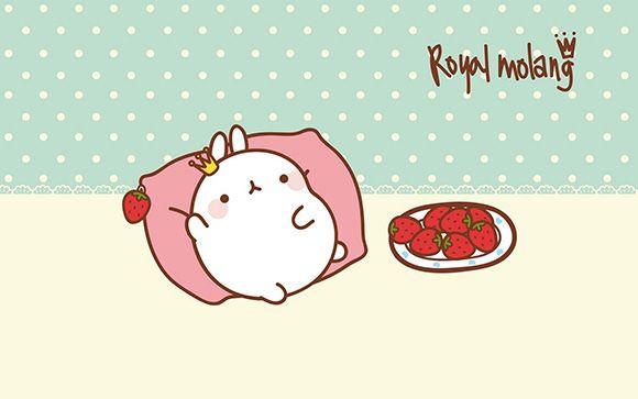 Kao Ani Molang Cute Korean Bunny Wallpaper Molang Wallpaper Molang Kawaii Valentine