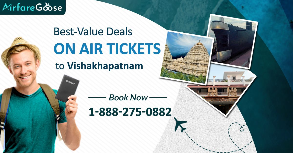 Looking for low-cost flights from your destination to #Visakhapatnam, India? Browse Airfaregoose for lowest airfare and flight ticket deals!   For more information, call us at -1-888-275-0882 (Toll-Free).  #TravelDeals #TraveltoVisakhapatnam #CheapAirfare #CheapAirticket #Travel #Tourism #vacations #Destinations #Cheaptravel #bookflightstoday