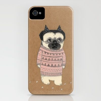 Pug iphone cover.