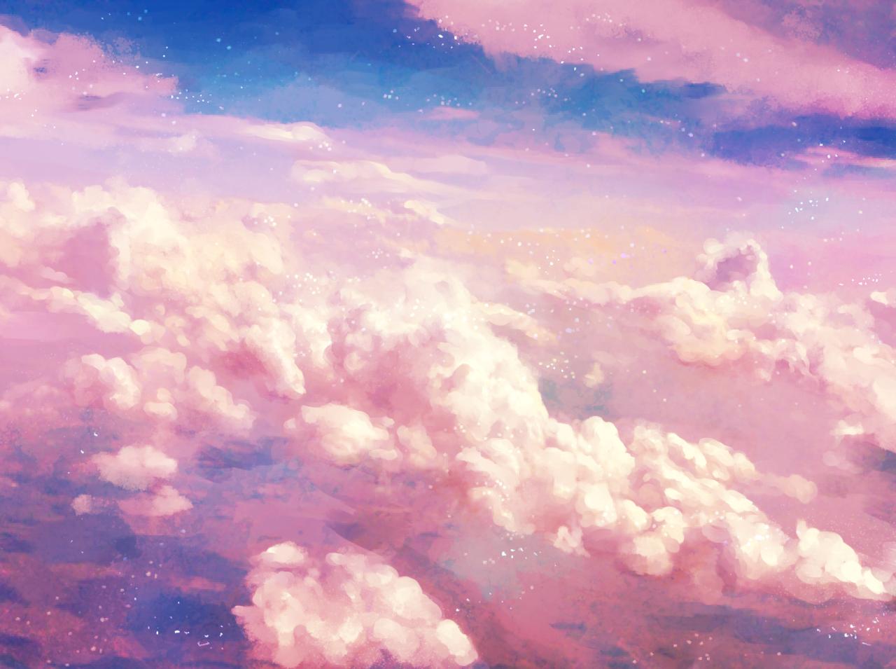 Розовое небо картинки тумблер