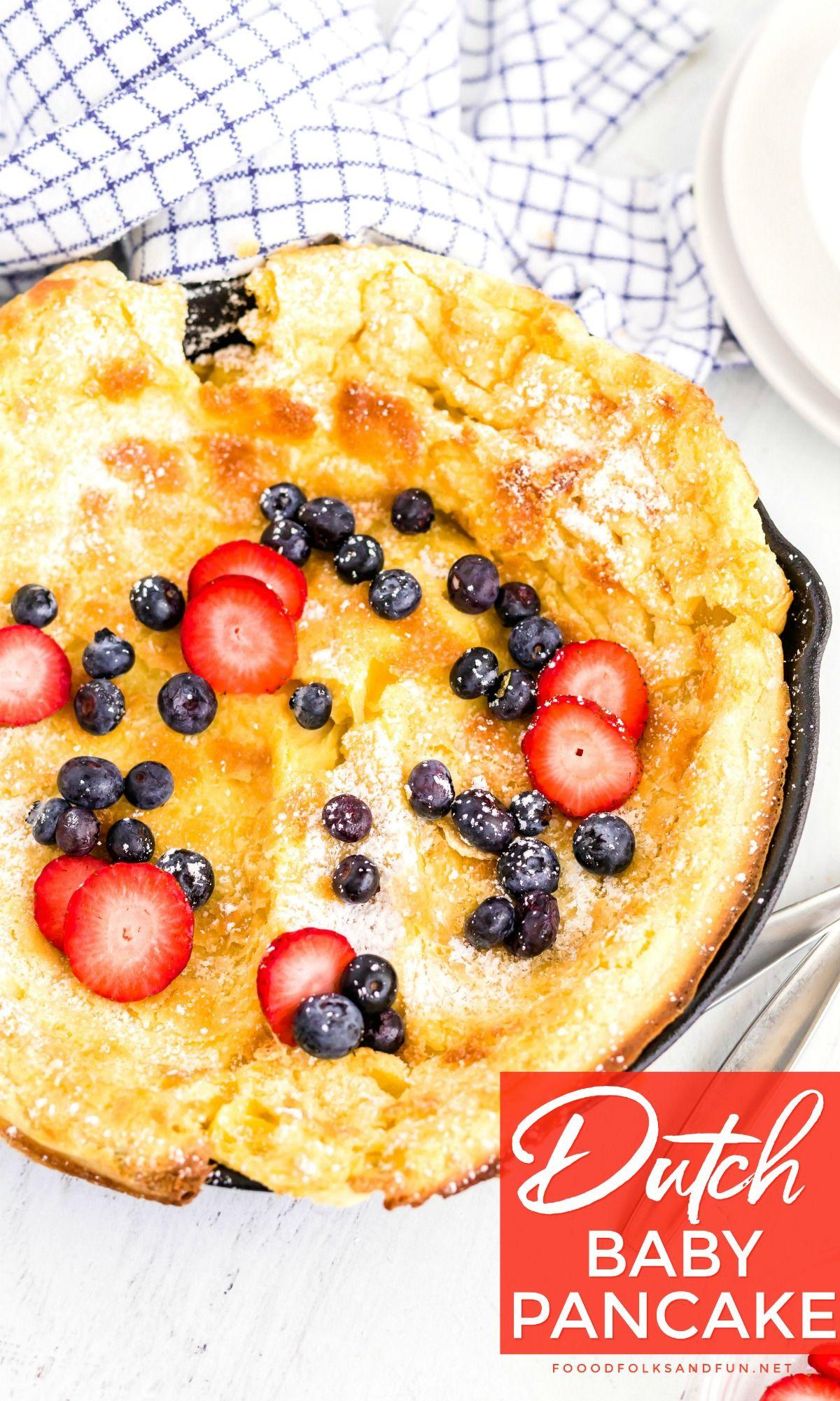 Dutch Baby Pancake | Food, Easy breakfast casserole ...