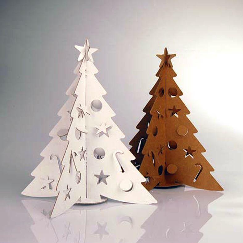 rboles de navidad reciclando papel carton cds