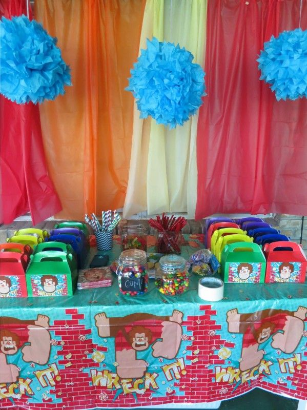 Wreck It Ralph Party Theme Birthday Party Planning 6th