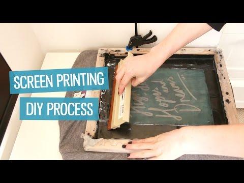 How To Screen Print T Shirts At Home Diy Method Charlimarietv Youtube Diy Prints Diy Screen Printing Screen Printing