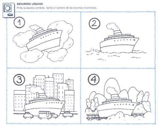 Absurdos 1 Jpg 512 409 Absurdos Visuales Actividades Para Ninos Preescolar Transporte Preescolar