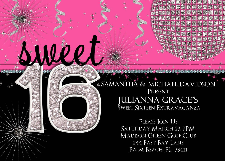 sweet sixteen invitations sweet 16