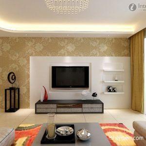 Tv Unit Design For Living Room With Wallpaper  Httpcandland Extraordinary Modern Design For Living Room Decorating Inspiration