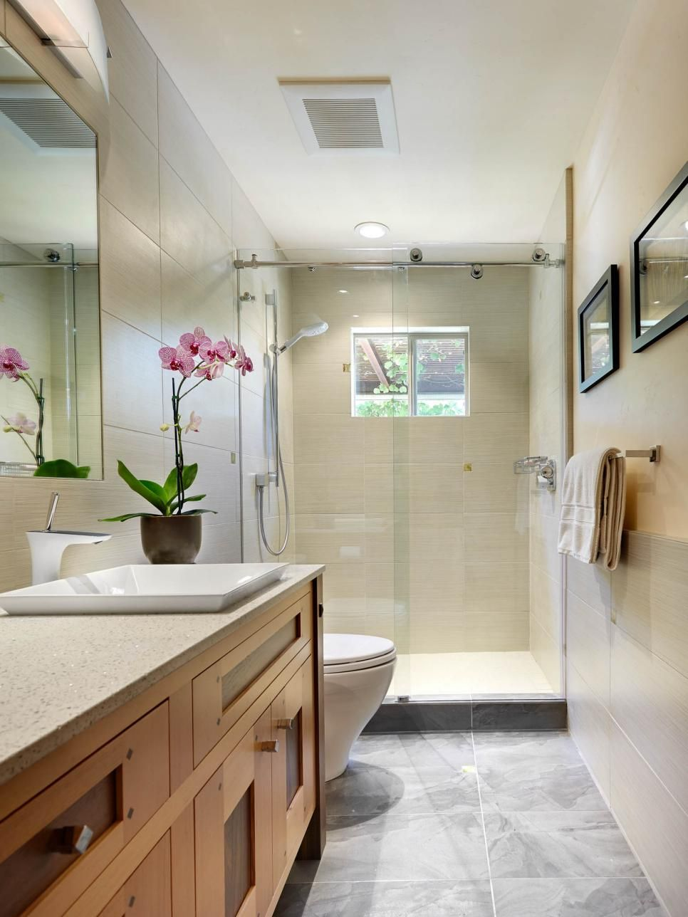 A Gorgeous Craftsman Style Vanity Is The Focal Point Of This Simple,  Elegant Bathroom