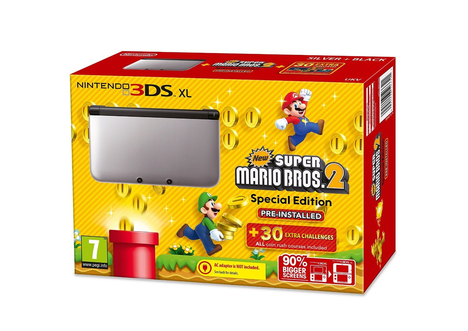 Nintendo Handheld Console 3ds Xl Silver And Black Limited