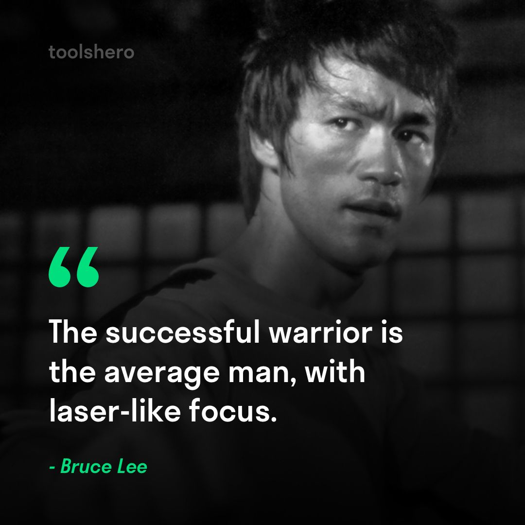 The Successful Warrior Is The Average Man With Laser Like Focus Bruce Lee Bruce Lee Quotes Badass Quotes Warrior Quotes