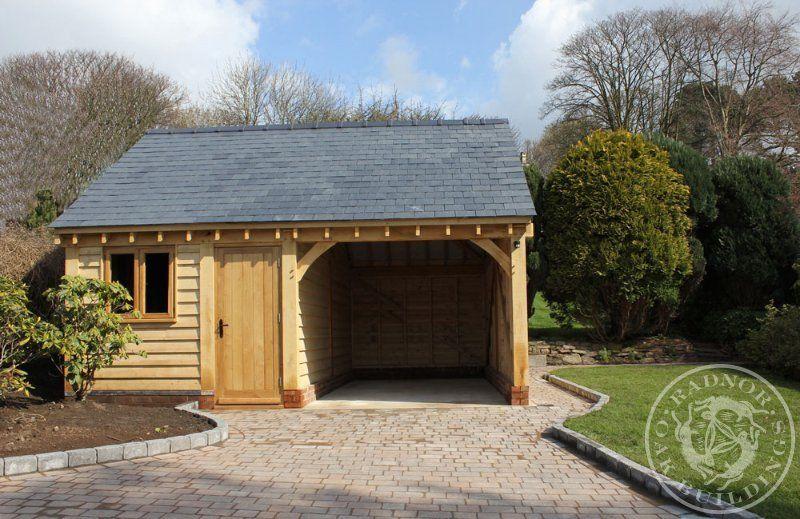 Radnor Oak 2 Bay Garage One Enclosed Oak building