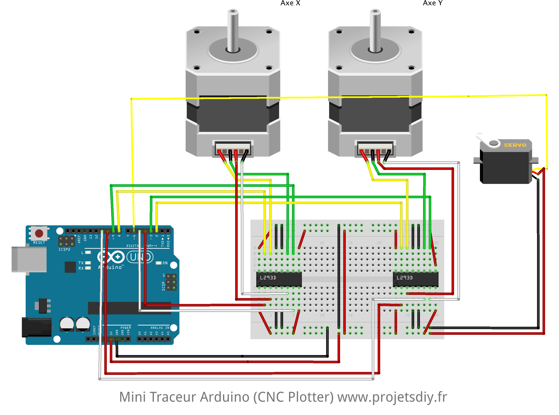 mini traceur cnc plotter arduino schema de cablage breadboard [ 2648 x 1966 Pixel ]