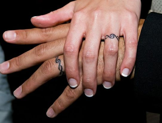 ring tattoo designs for couples Tattoos To Do With Two The Most