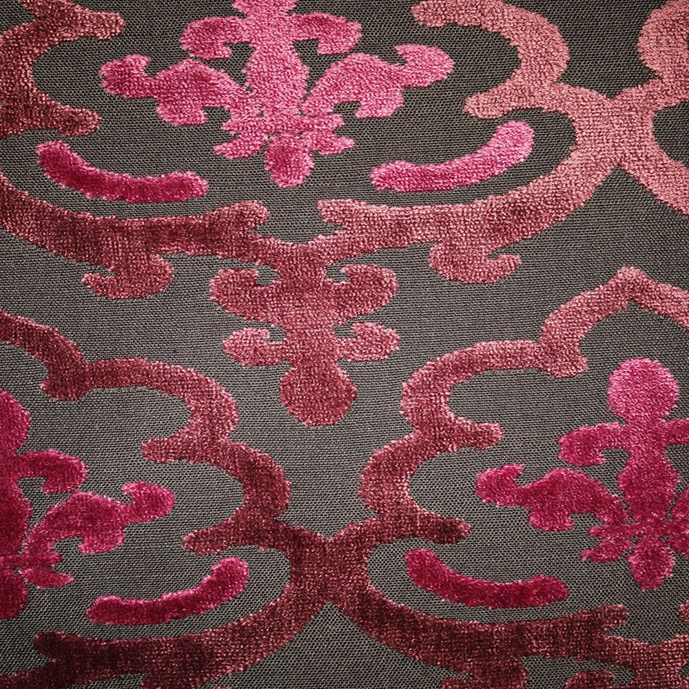 Temple Cut Velvet Damask Pattern Drapery Upholstery Fabric
