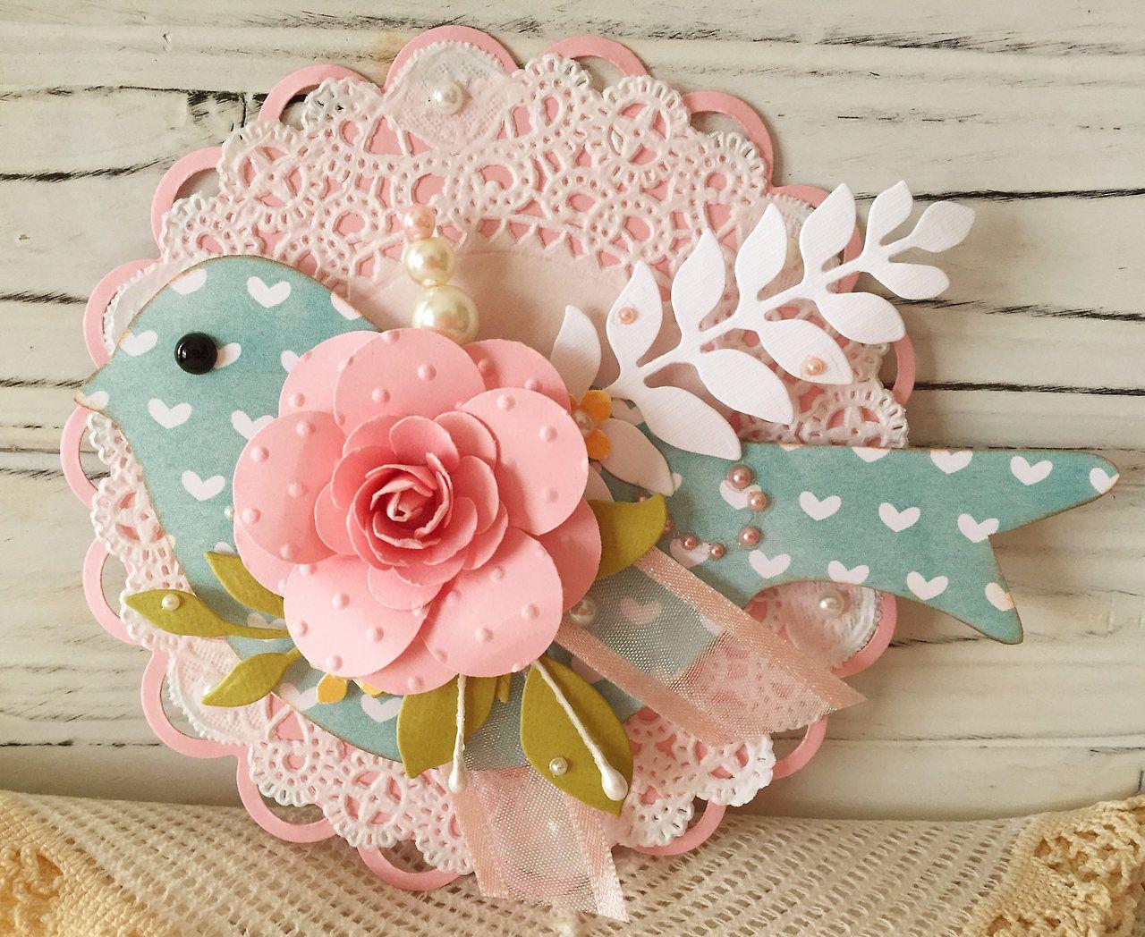 spring bird embellishment  scrapbook embellishments diy