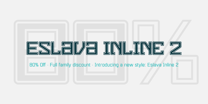 Eslava (80% discount, from $4.00, complete $20.00) - http://fontsdiscounts.com/eslava-80-discount-4-00-complete-20-00/