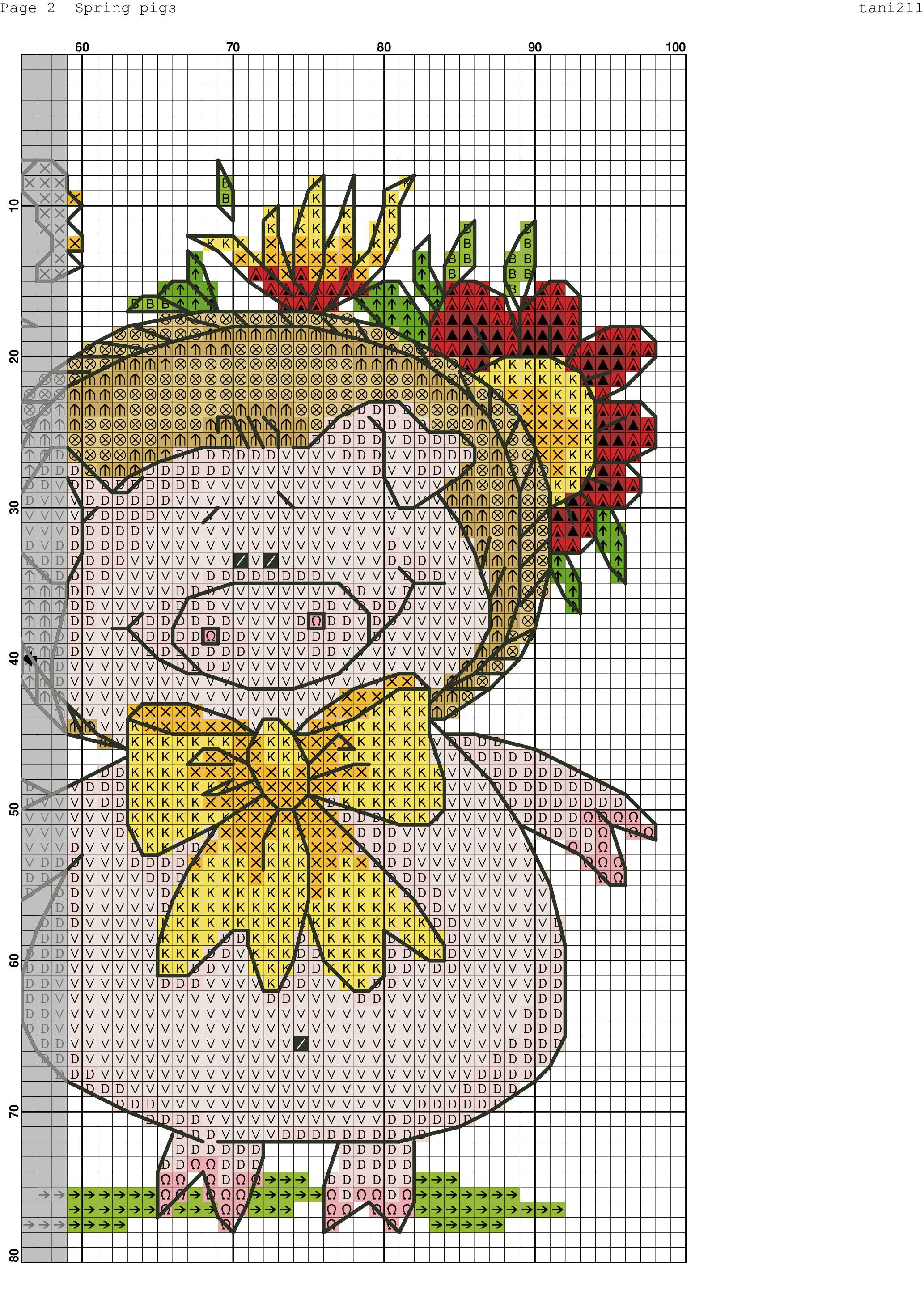 бесплатные схемы вышивки крестом детские миниатюры поросята