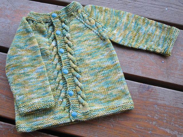 knerdy's Sunnyside Cardigan  Pattern: Sunnyside by Tanis Lavallee  Yarn: Baah La Jolla in Cape Cod