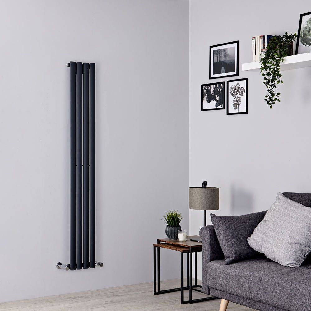 Milano Aruba Slim - Anthracite Space-Saving Vertical Designer