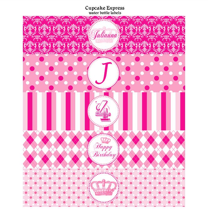 preppy couture printable water bottle labels label templatestemplates freewater
