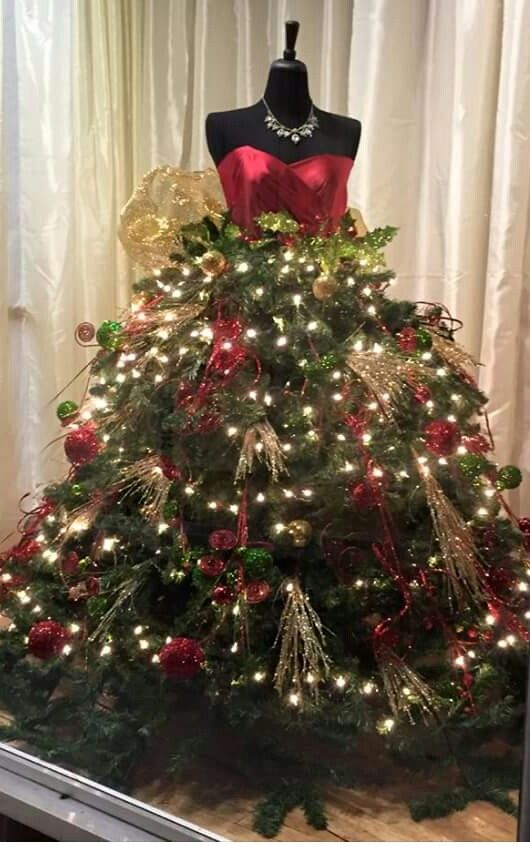 Christmas Mannequin Dress Christmas Tree Dress Mannequin Christmas Tree Maniquin Christmas Tree