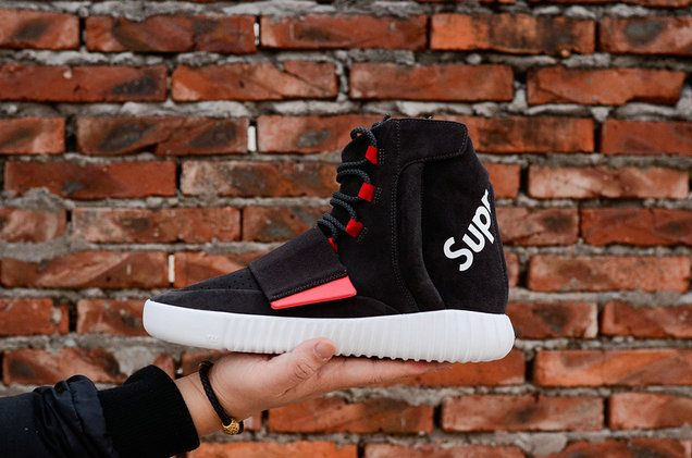 14030c59087 Adidas Real Yeezy Boost 750 x Supreme Black Red White BB1630