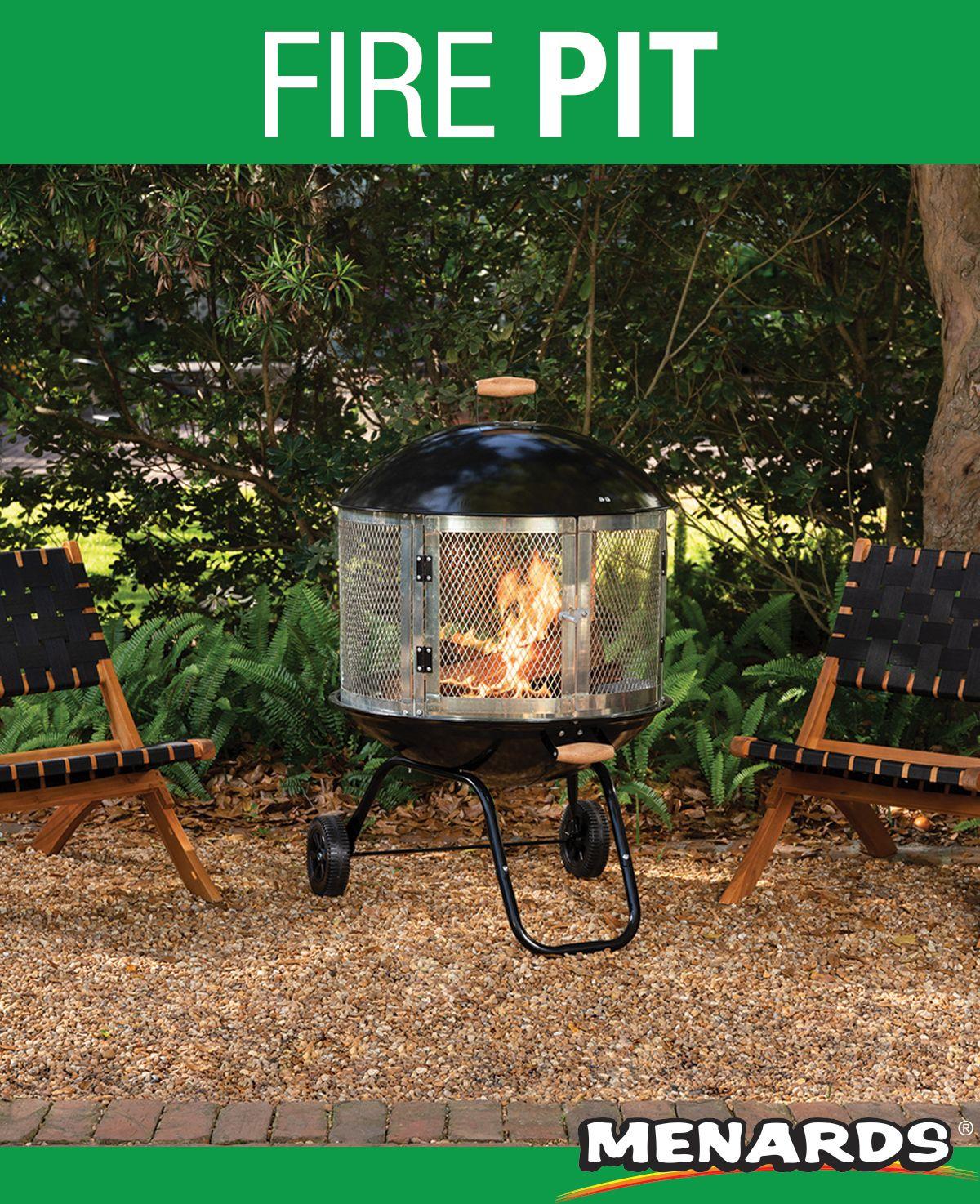 Backyard Creations 28 Portable Steel Fire Pit Backyard Creations Fire Pit Cover Fire Pit